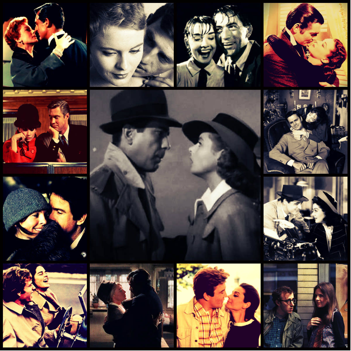 Romantic Moments throughout the history of film-making.