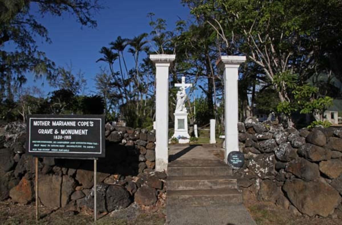 Saint Marianneʻs Grave at Kalaupapa
