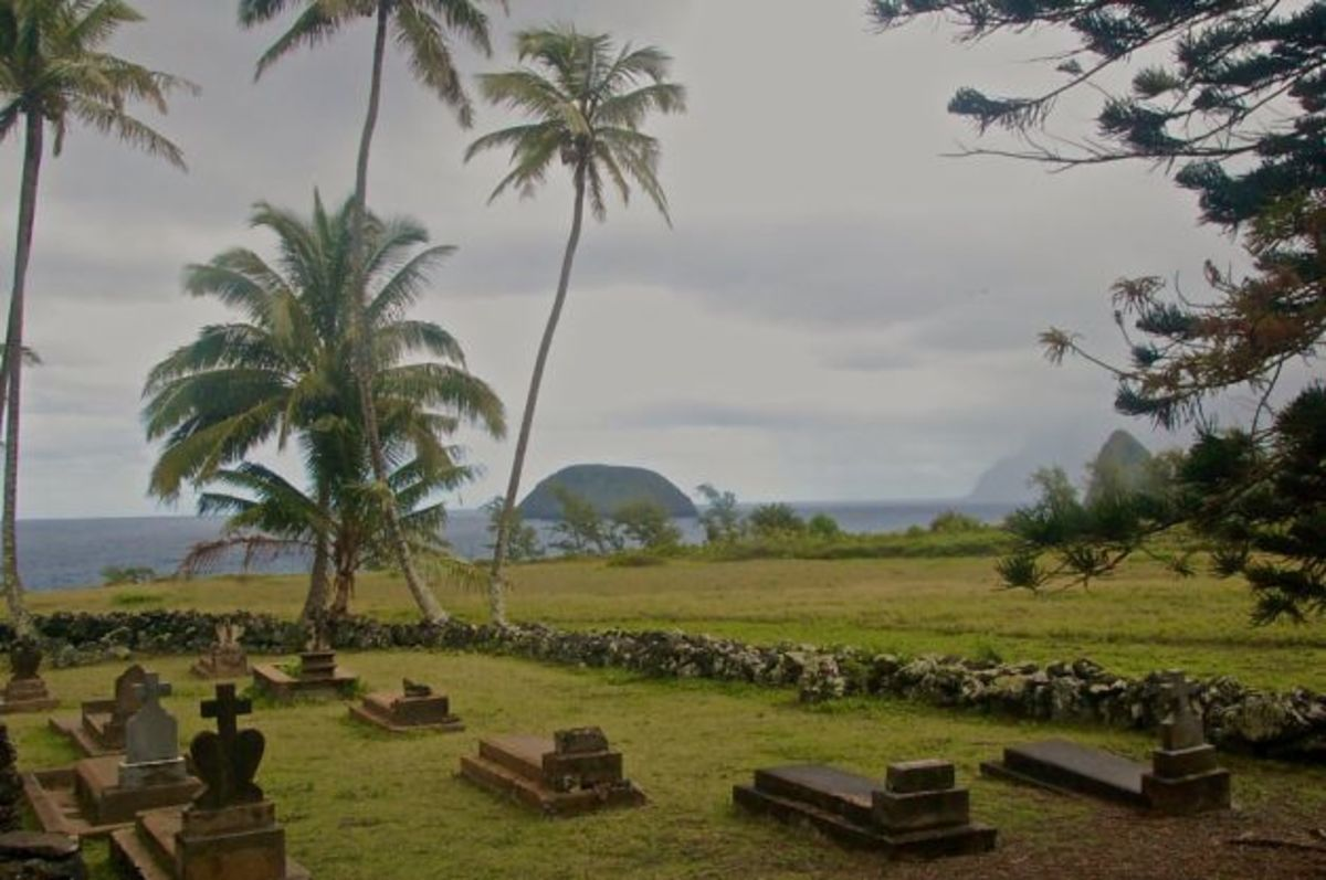 Graves of some who died at Kalaupapa. The majority were buried in unmarked graves.