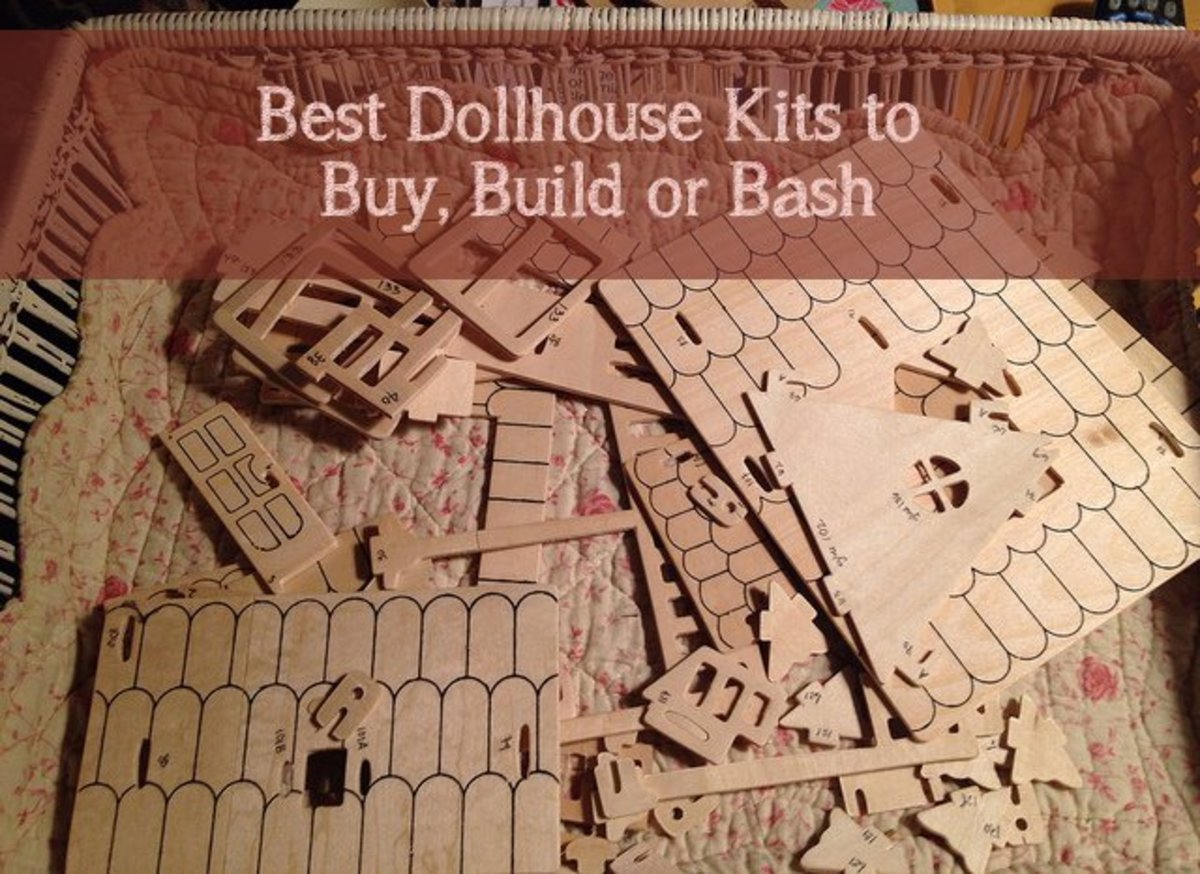 What are the best dollhouses to buy, to build, or to bash? This page will tell you which dollhouses to buy as gifts, which ones to buy to build, and which ones are most bash-ready!