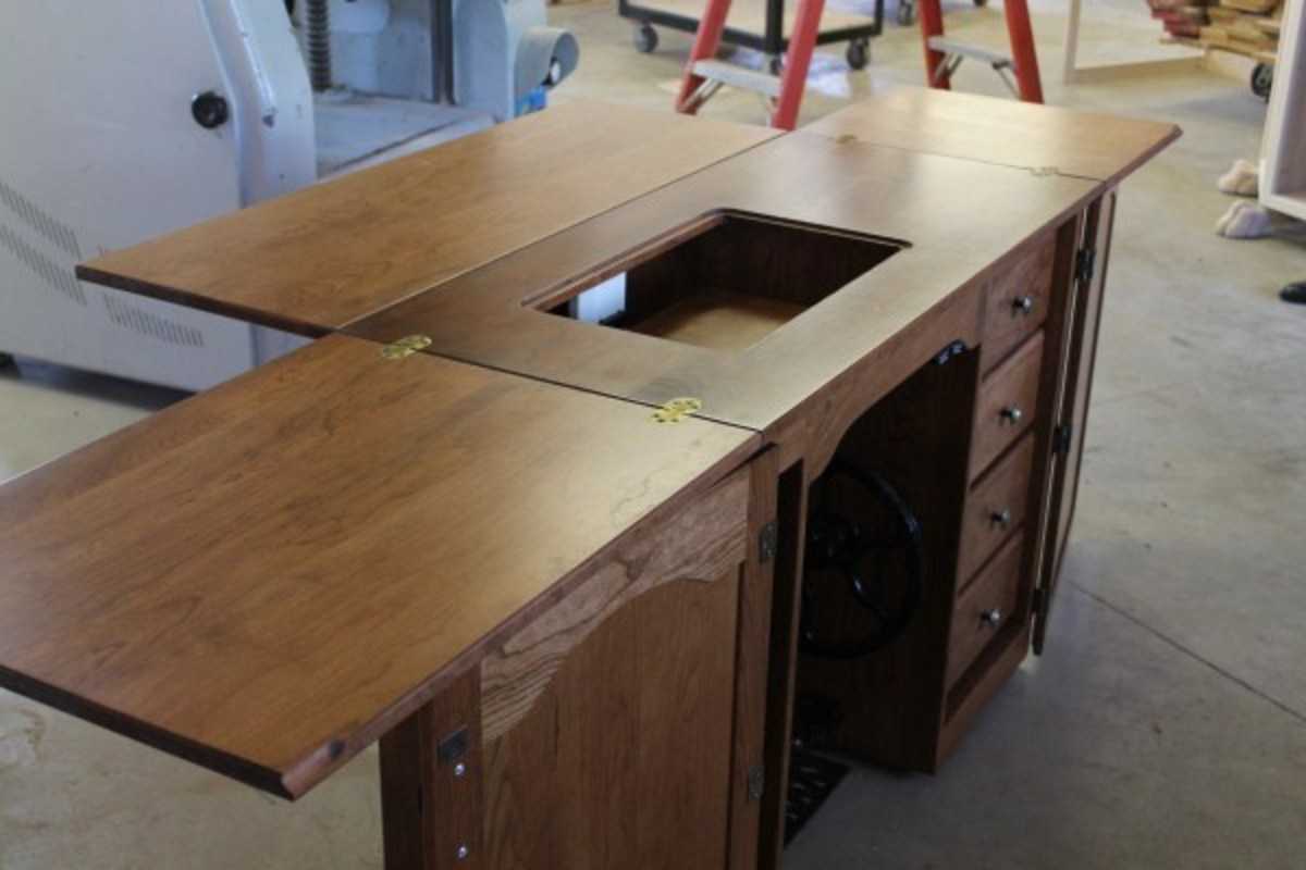 Custom Amish sewing cabinets