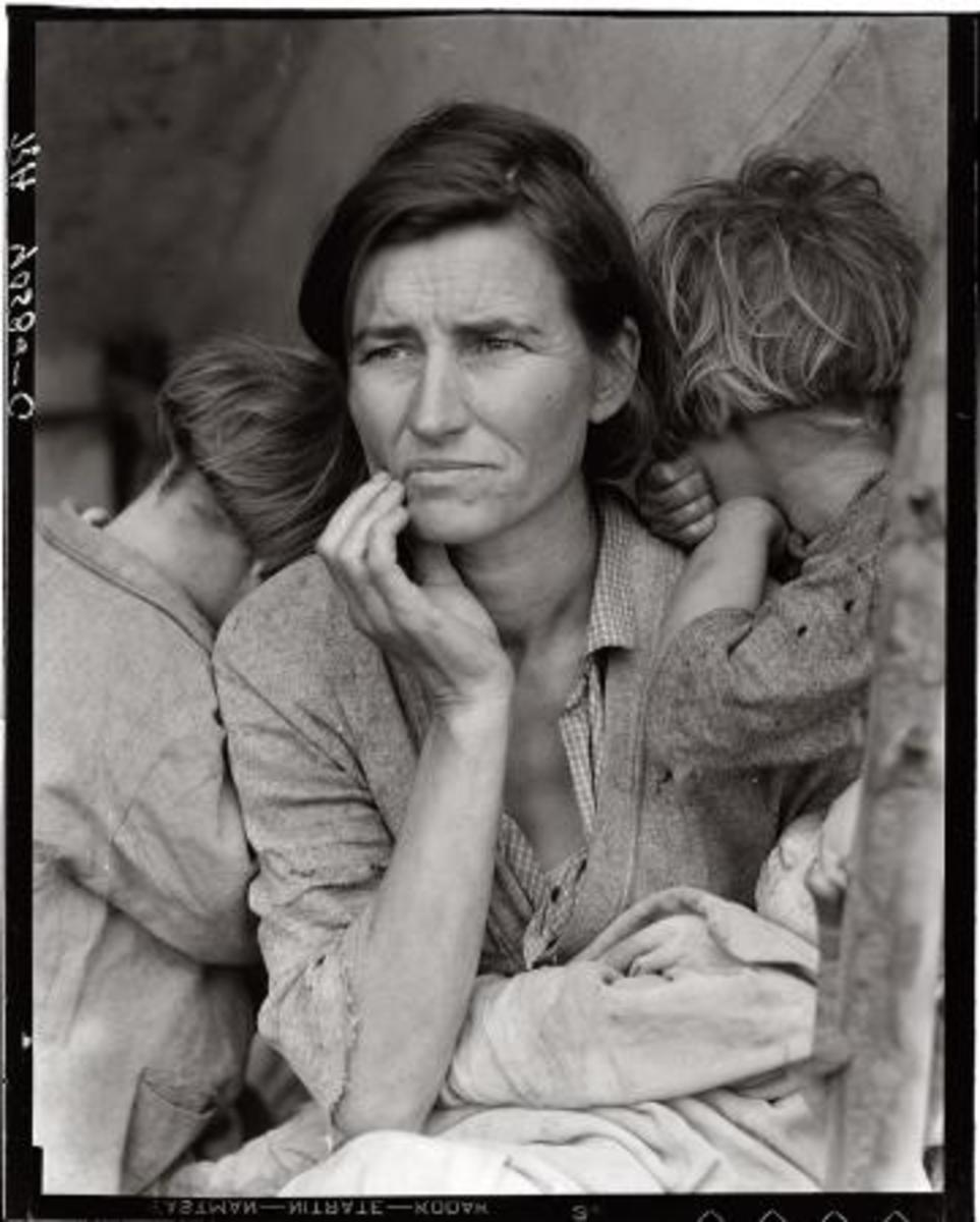 February 1936. Nipomo, Calif. Pea picker Mother of seven children. Age 32