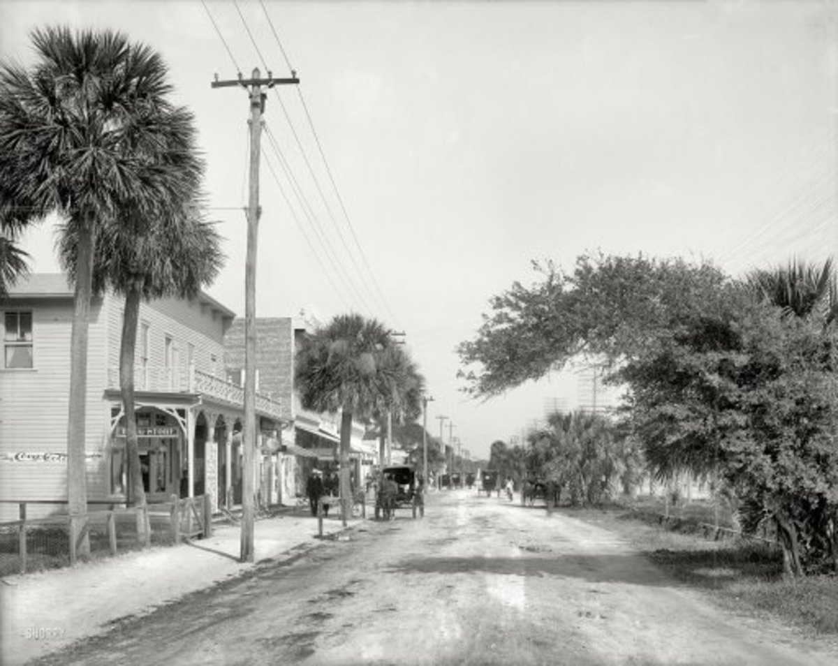 "Florida  1904. "" Beach Street, Daytona."