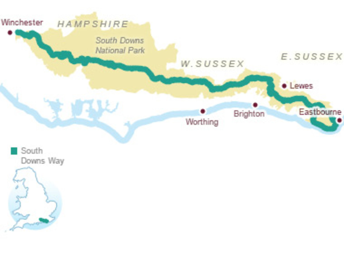a Wonderful Walk with Beautiful Views across the Weald to the North and down towards the English Channel to the South
