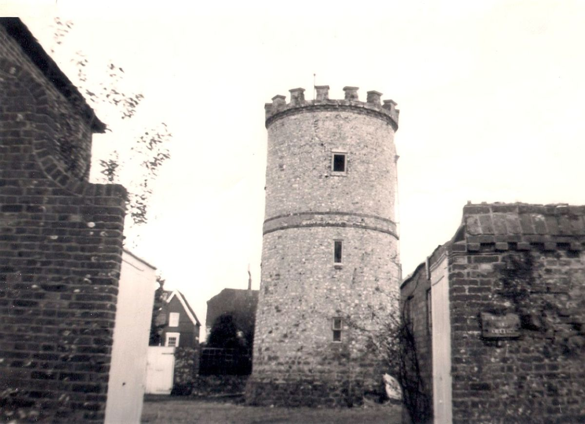 .... past the round tower and down to the fields