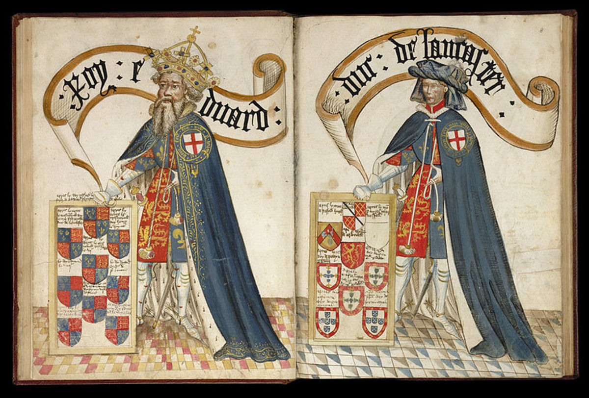 King Edward III in the Garter Book