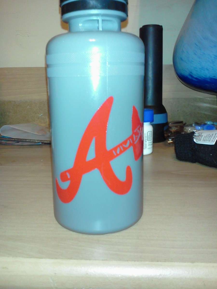 This is the bottle I made for my son's baseball team.