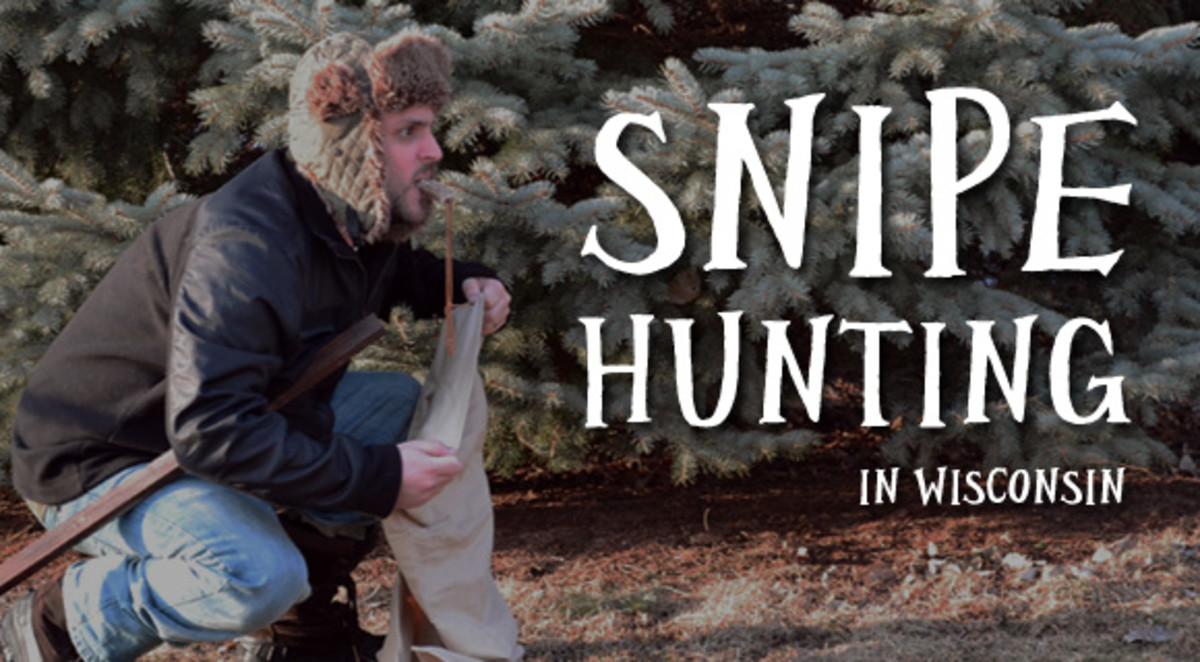 The holding the bag routine of snipe-hunting isn't just big in Wisconsin; it's also a favorite pastime of postal managers everywhere.
