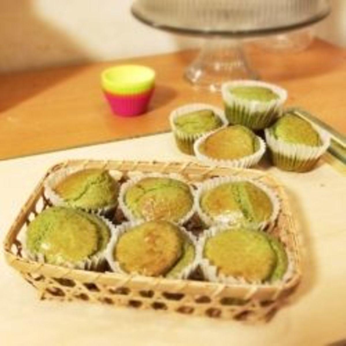 Sugar Free & Gluten Free Low Carb Matcha Muffins