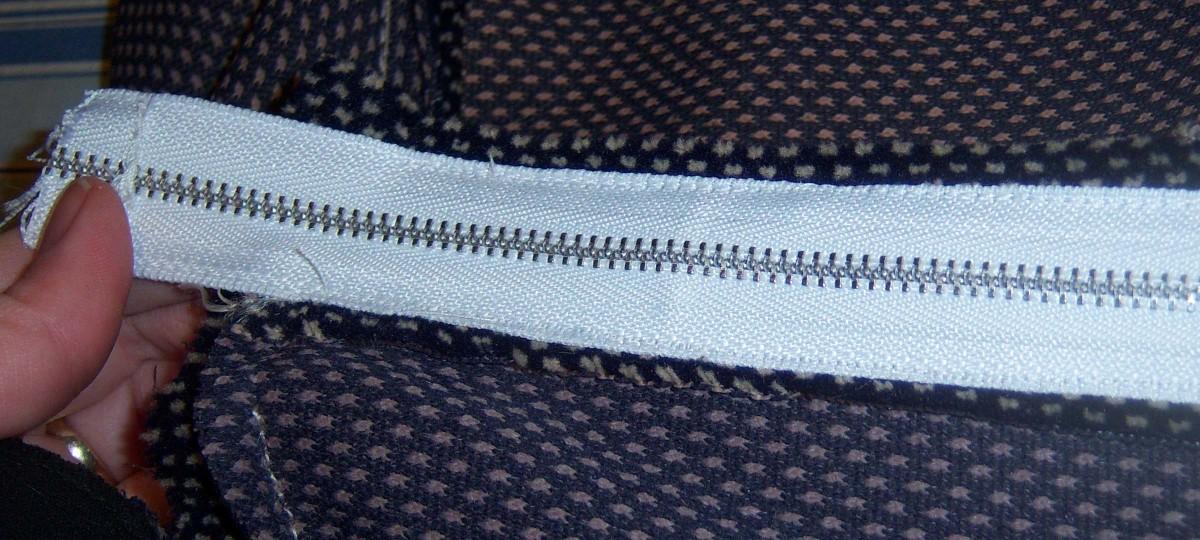 A newly installed zipper.