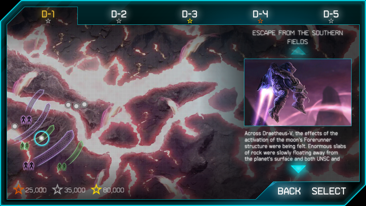 1 of the 30 levels in Halo: Spartan Assault