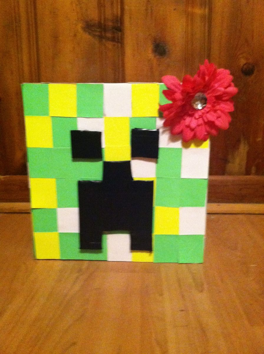 Minecraft creeper head, cost less than $5 to make