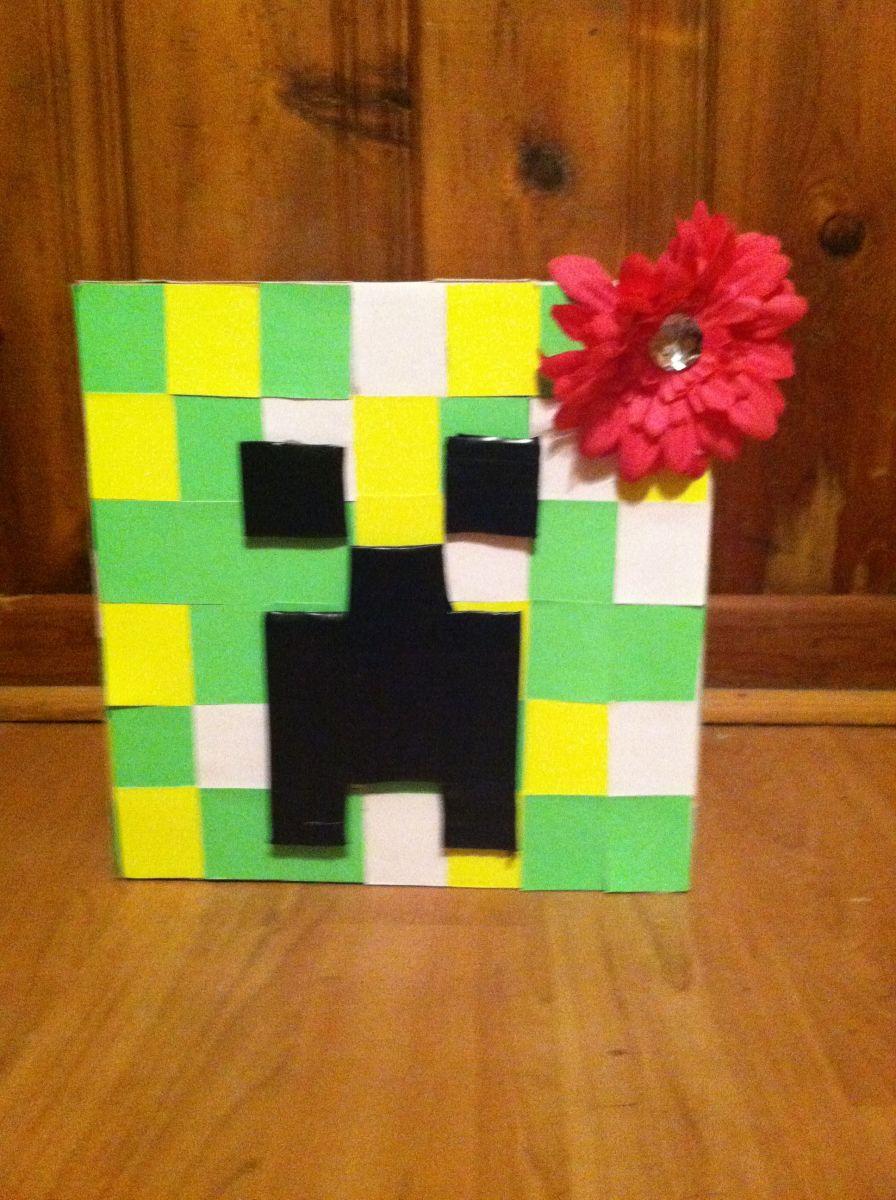 How to Make a Cardboard Minecraft Creeper Head