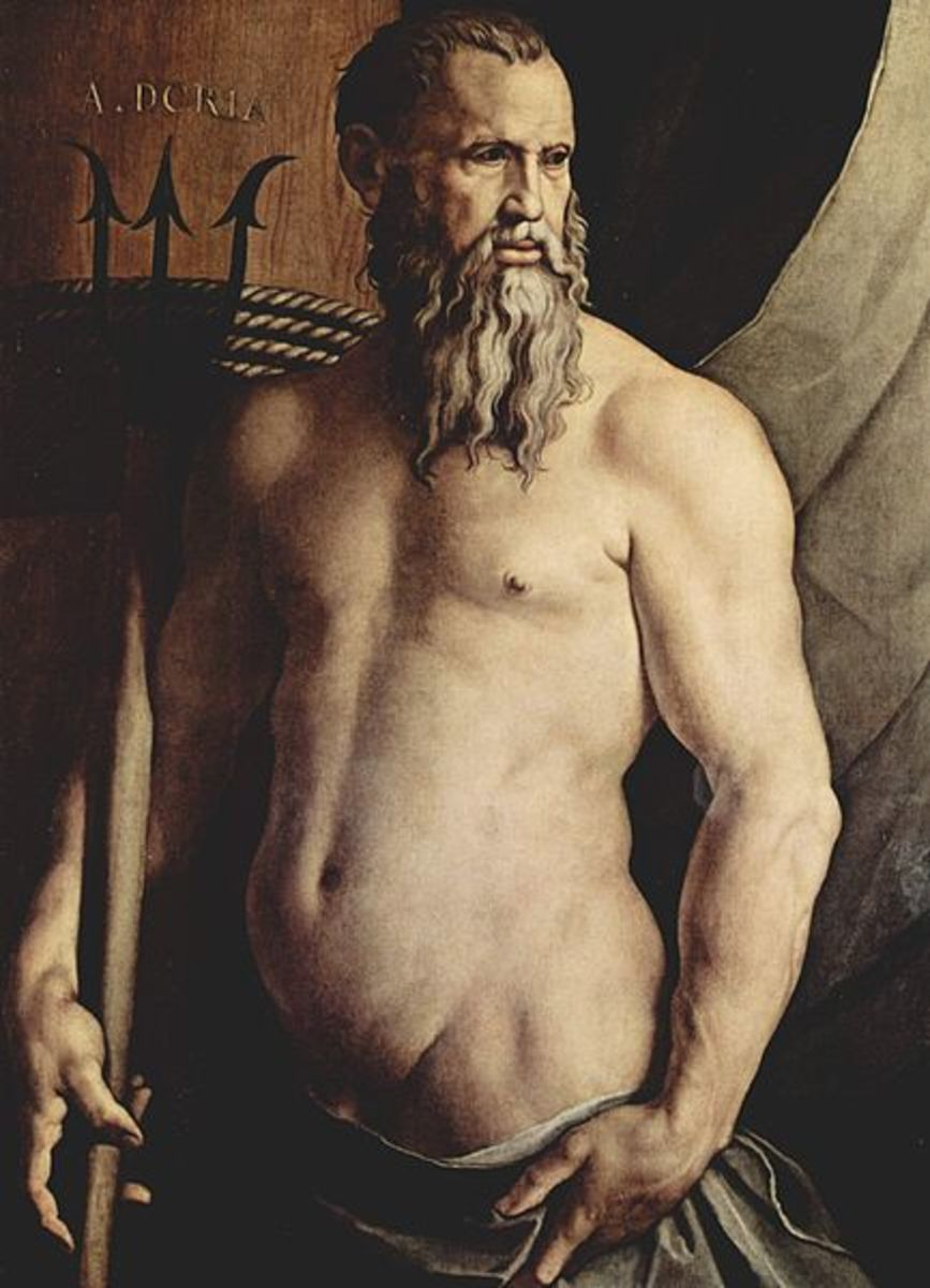 Neptune by Angelo Bronzino