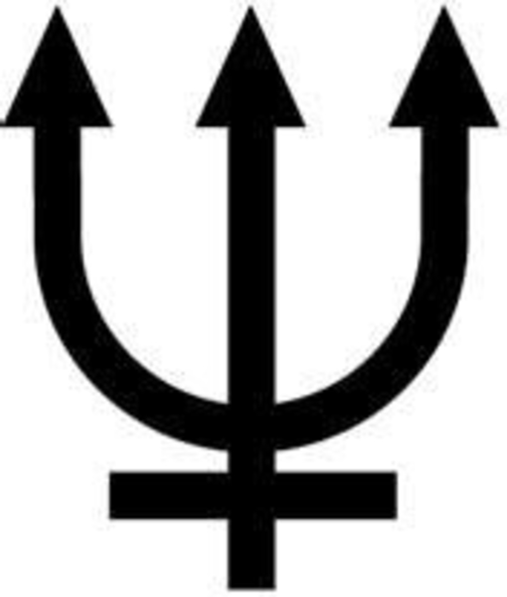 Neptune symbol a trident