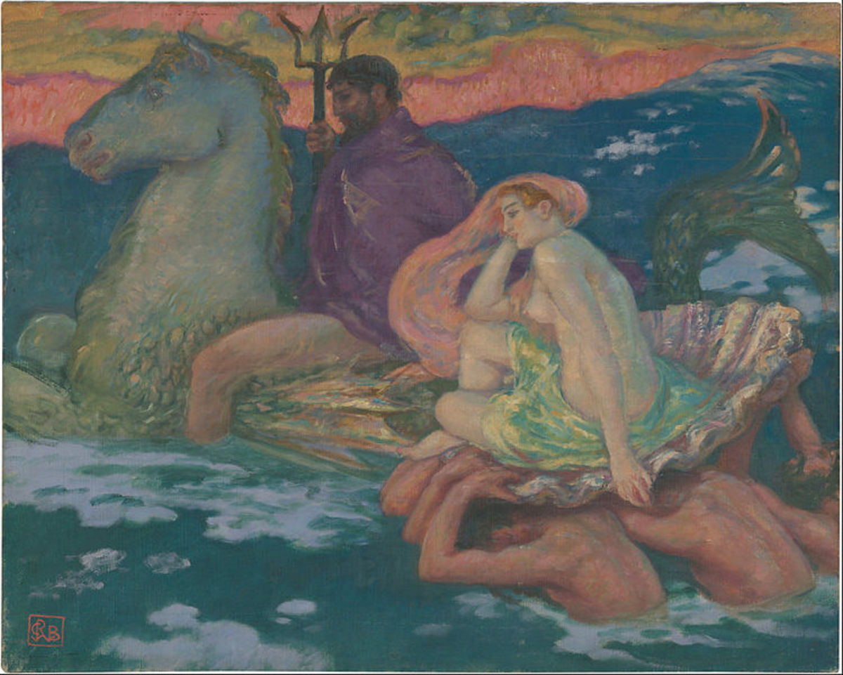Poseidon and Amphitrite  by Rupert Bunny