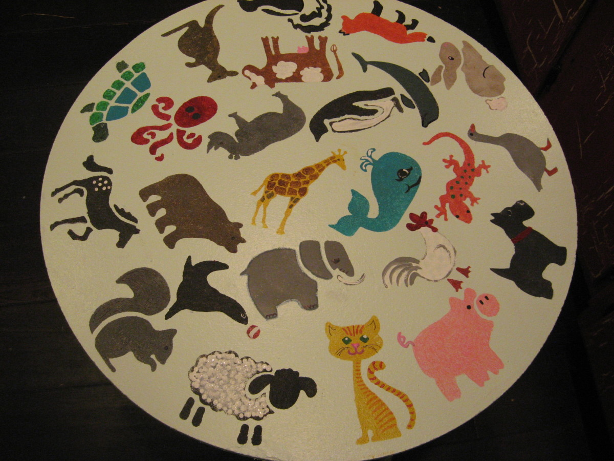 Easy Animal Stencils - with added details