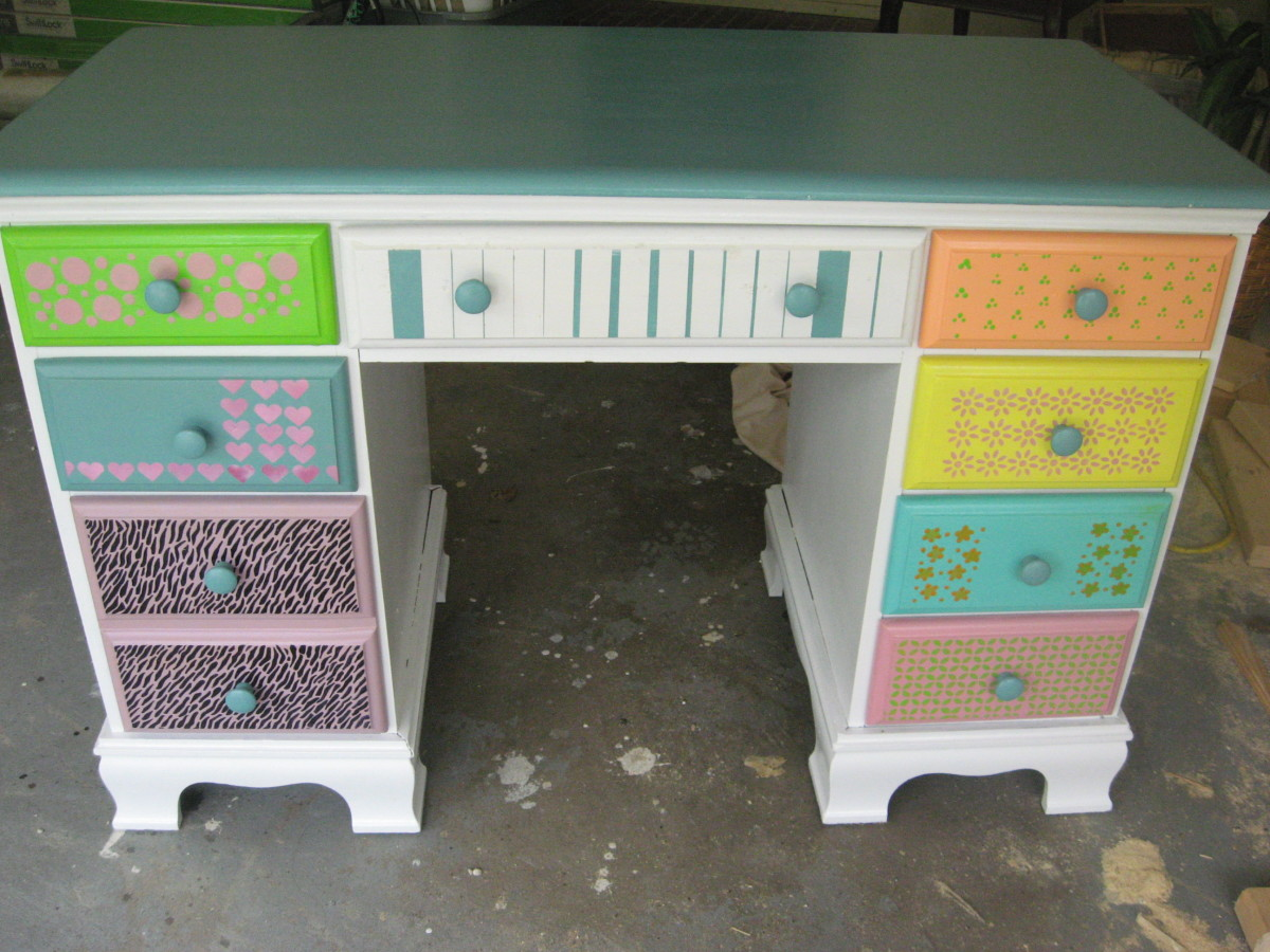 Funky Painted Desk