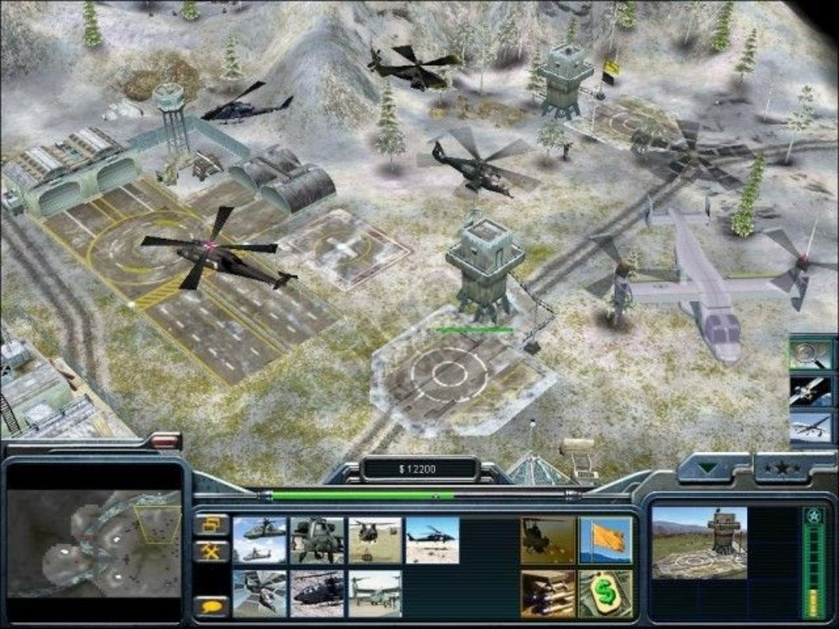 C&C Generals playing USA side with focus on Air Force