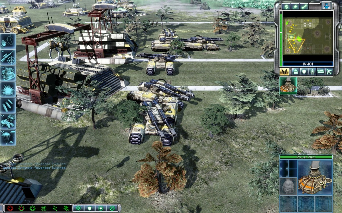 Command & Conquer Tiberium Wars GDI Base with a massive Mammoth Tank