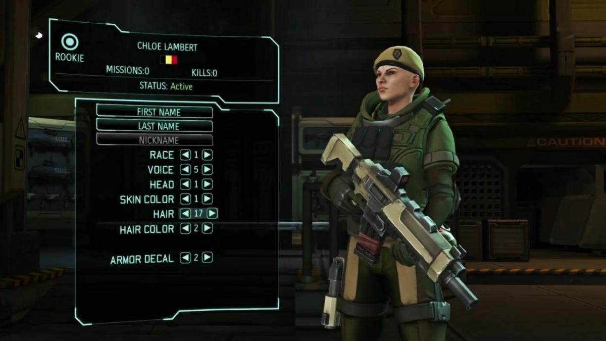 All Xcom Soldiers appearance can be personalized