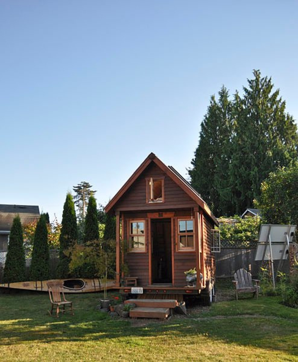 Mobile house located in a Portland, Oregon.