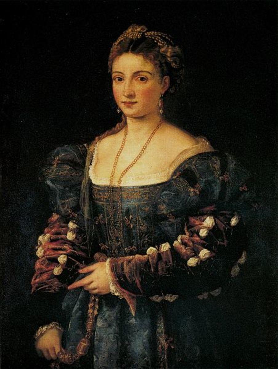 Titian, La Bella (a. 1536), Florence Palatine Art Gallery