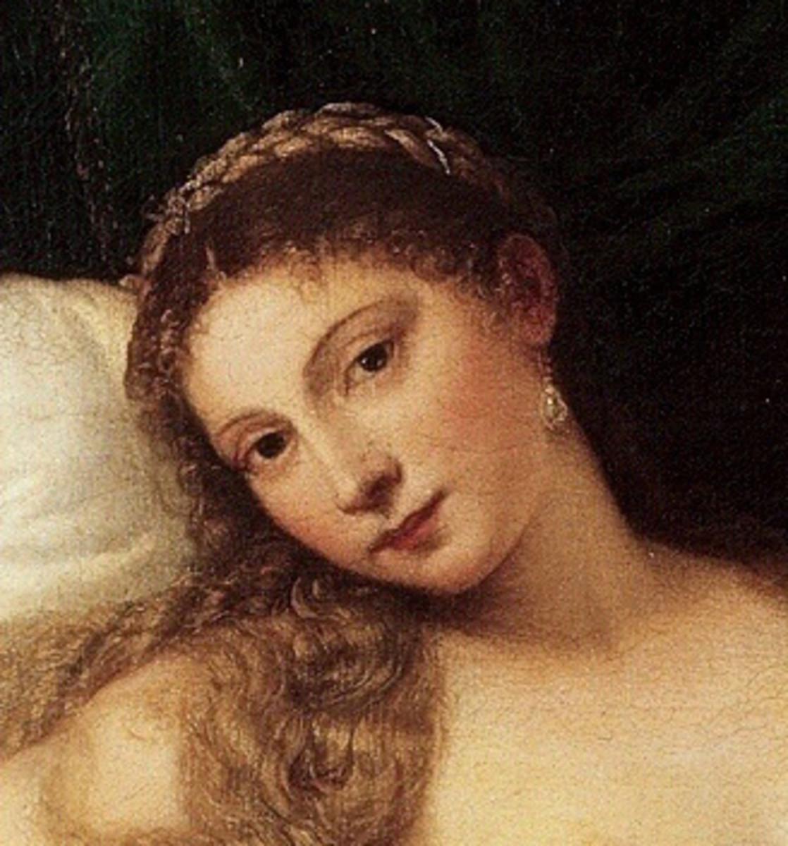Titian, Venus of Urbino (detail)