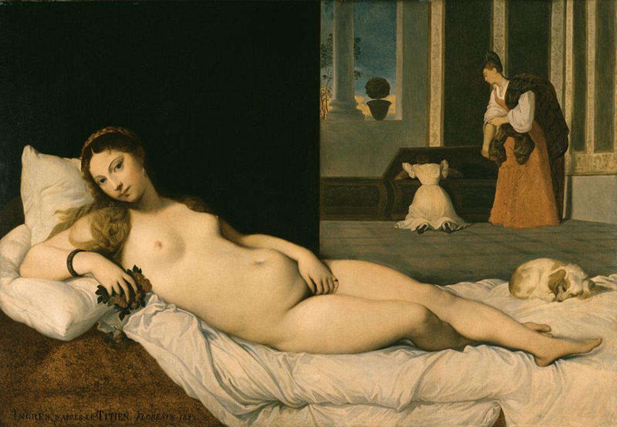 Jean-Auguste- Dominique Ingres, Reclining Venus (1821), Baltimore Walters Museum of Arts