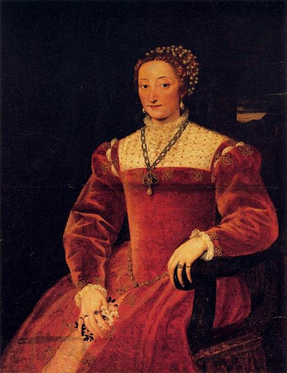 Titian, Portrait of Giulia Varano (1545- 1547), Florence Palatine Gallery