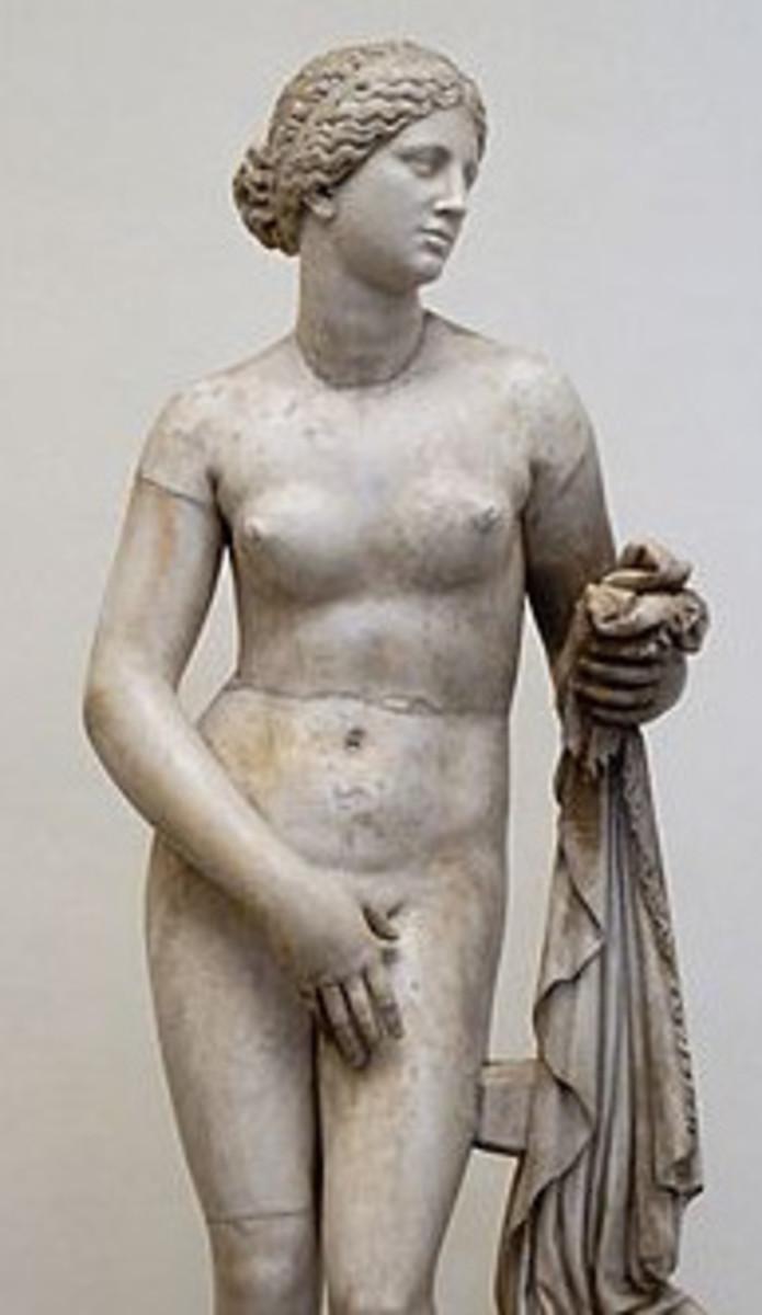 Aphrodite of Cnidus, copy from Praxiteles (IV century b.C.), Rome Altemps Palace