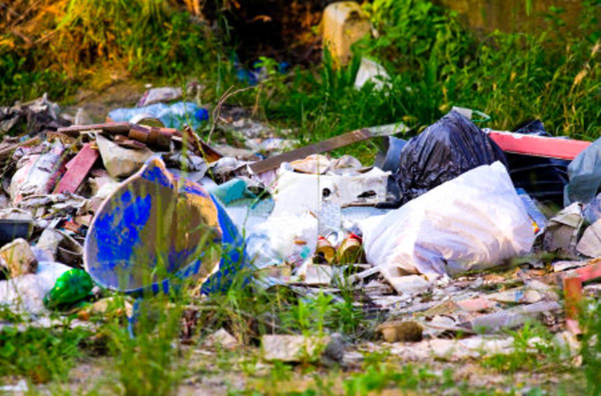 Small rubbish pile in a bogan backyard.