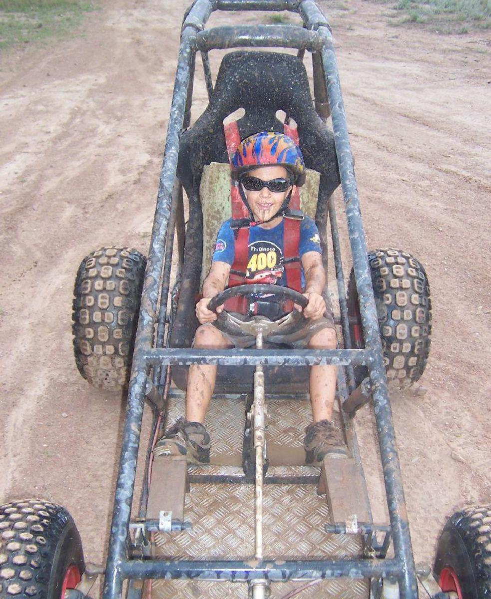 Of course, some memories will last longer than others. I built this buggy with my boy when was five. With some custom extension pedals, he had a ball.