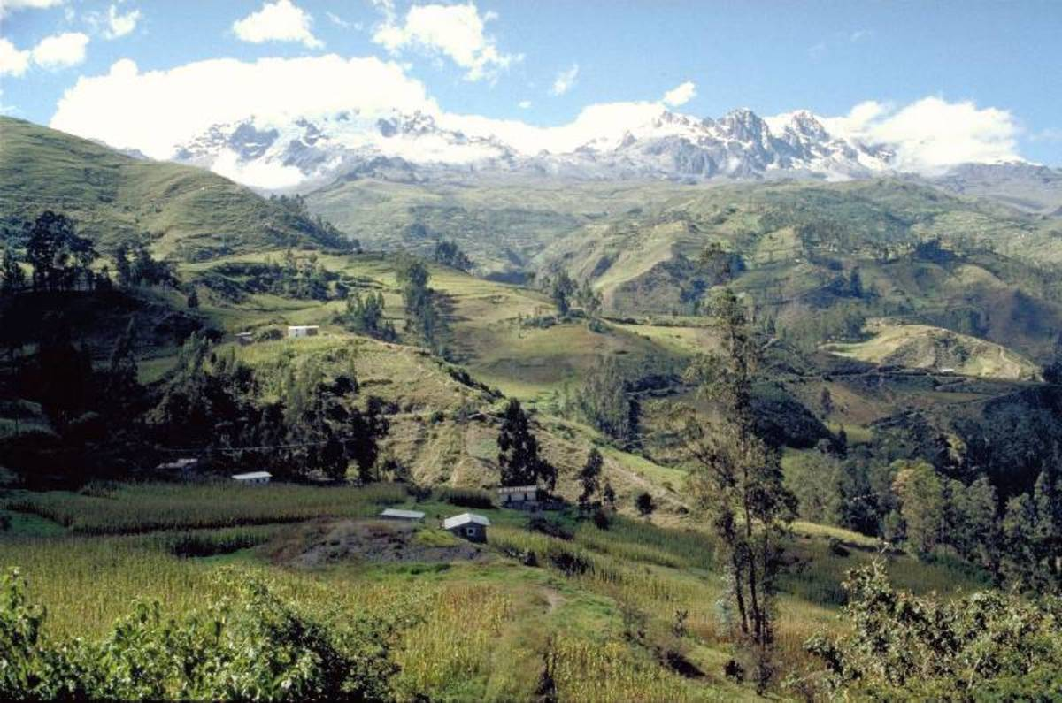 Sorata, Bolivia. This sleepy town is base camp for hikers going to climb Mt. Illampu