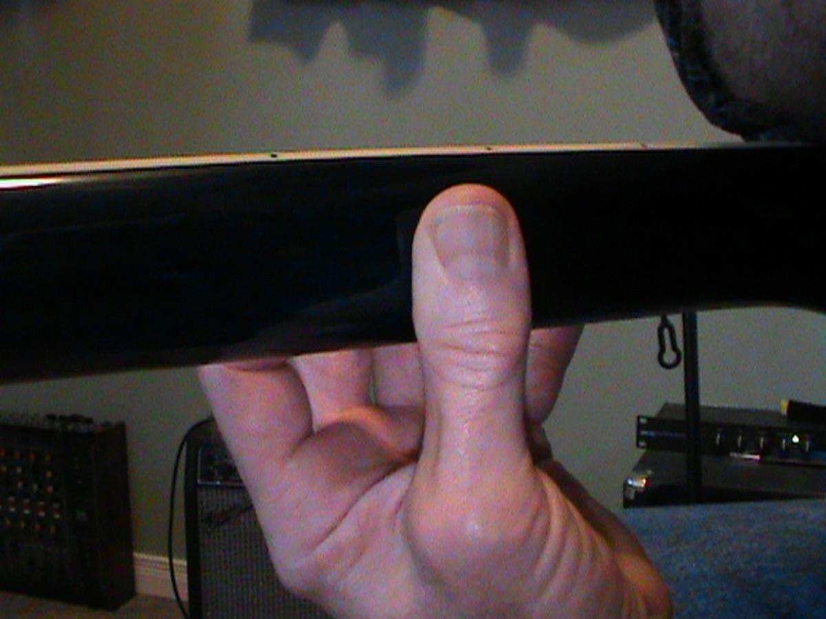 Correct thumb position.