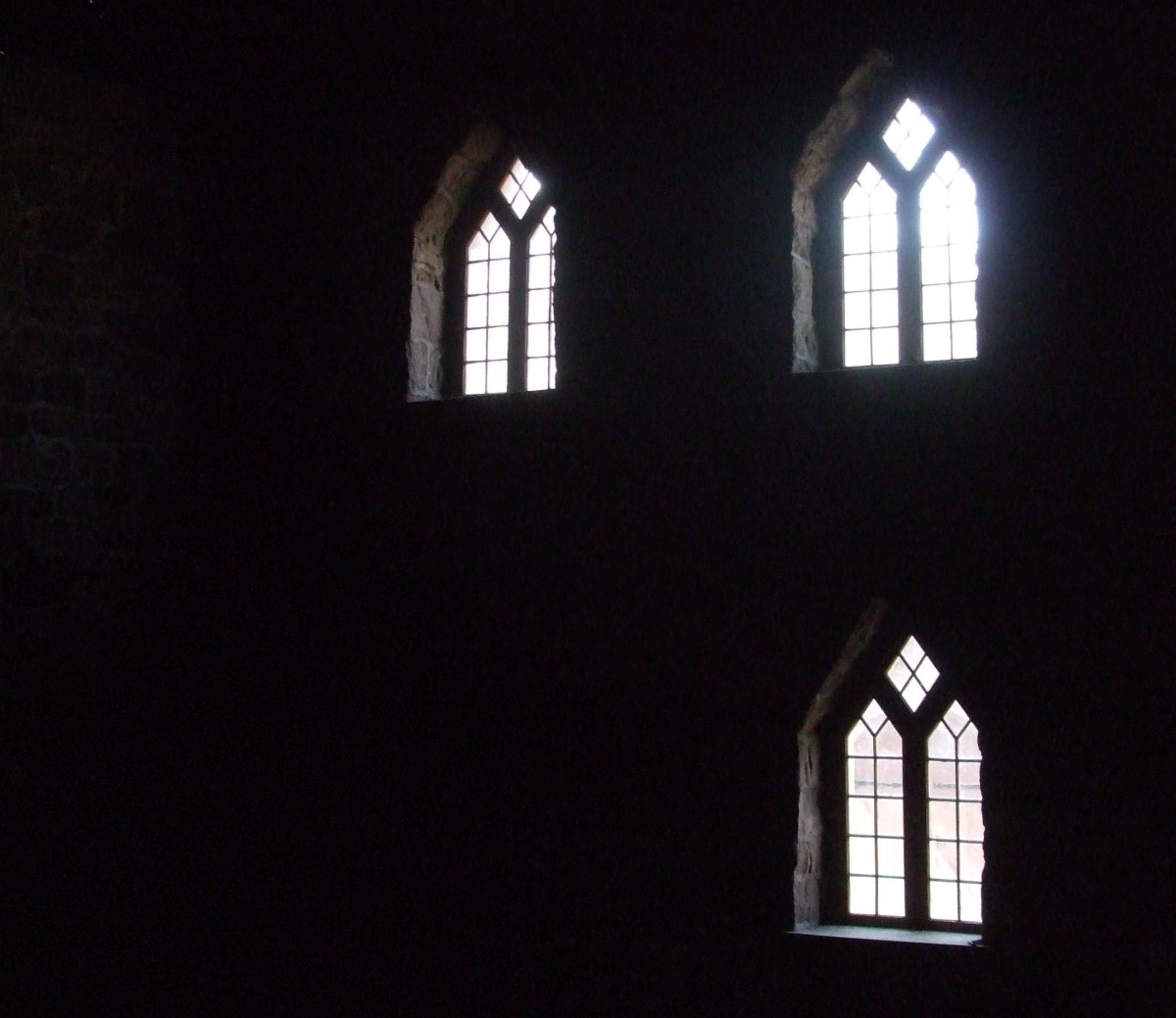 Ostentatious windows in the iron smelting building at Cornwall Furnace.