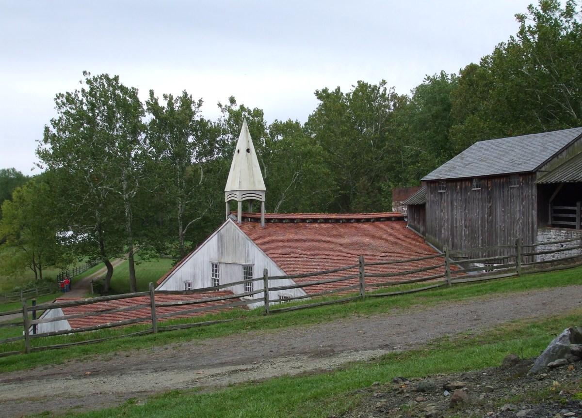 The whitewashed casting house of Hopewell Iron Plantation.