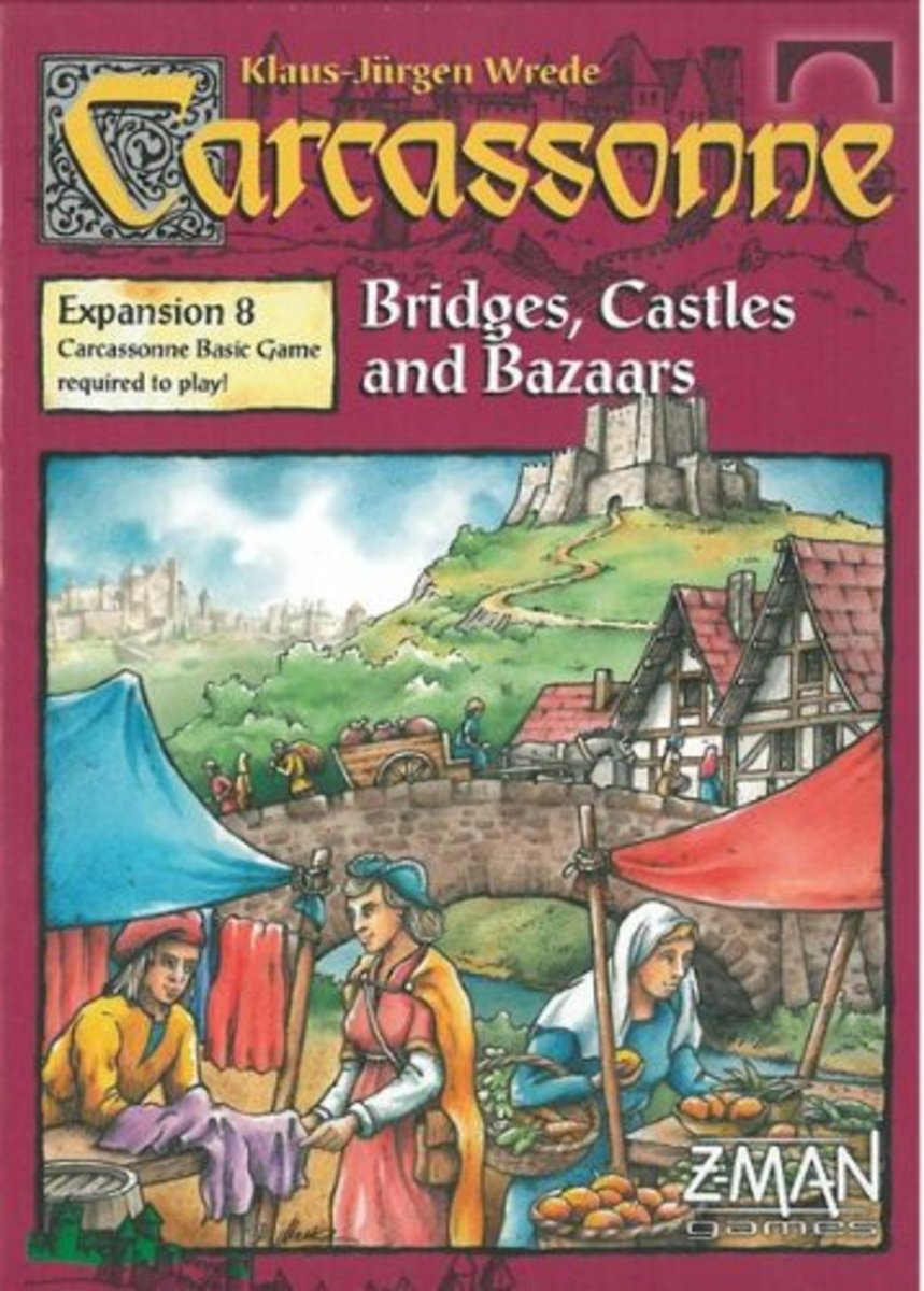 Carcassonne Expansion - Bridges, castles & Bazaars