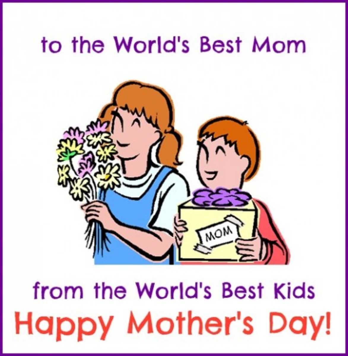 Mother's Day Card from Kids
