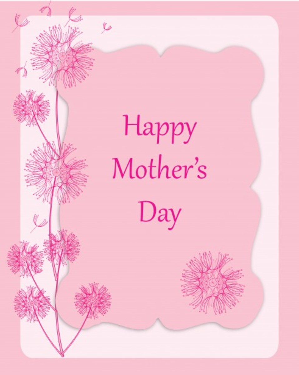 Happy Mother's Day Picture in Pink