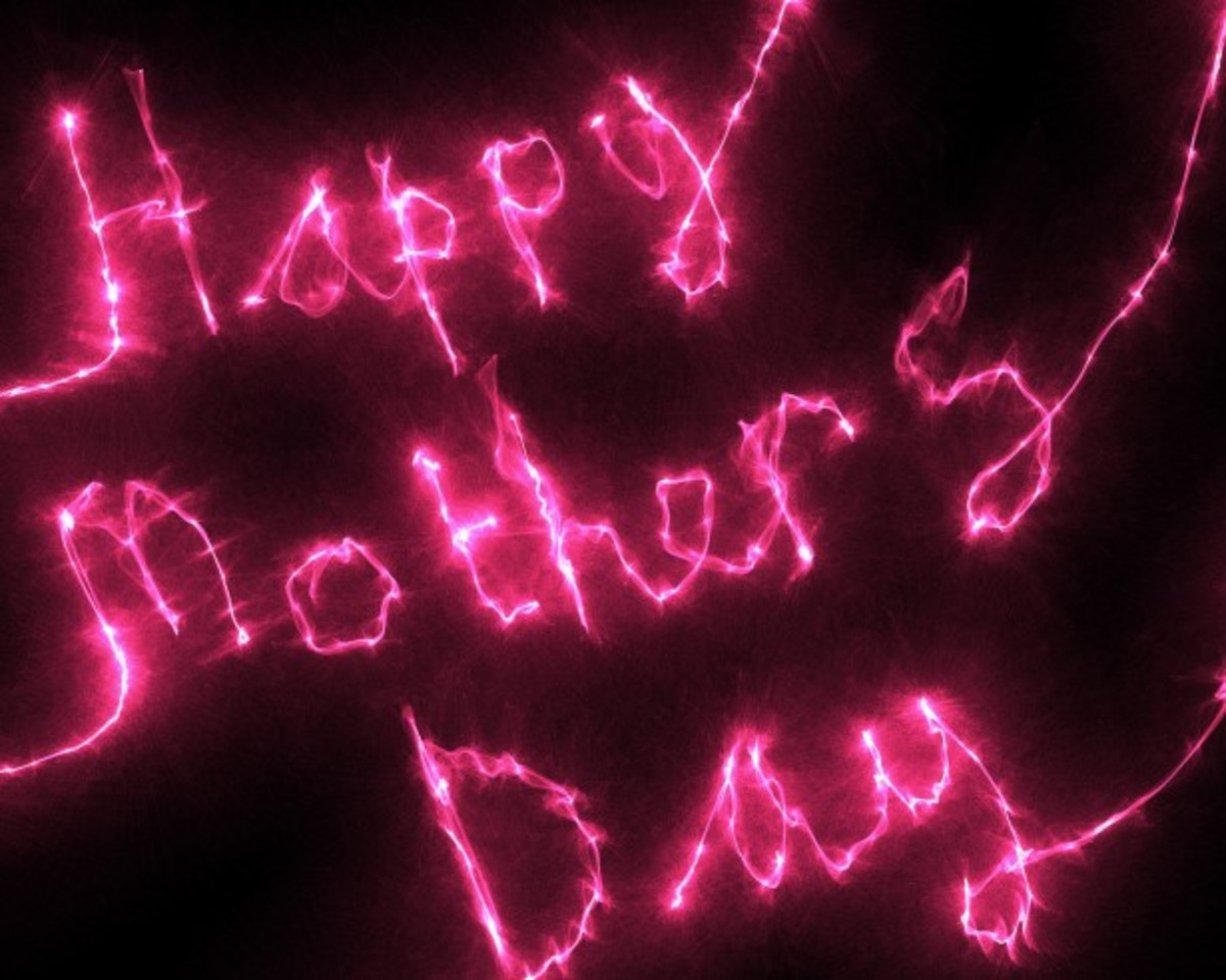 'Happy Mother's Day' in Fireworks
