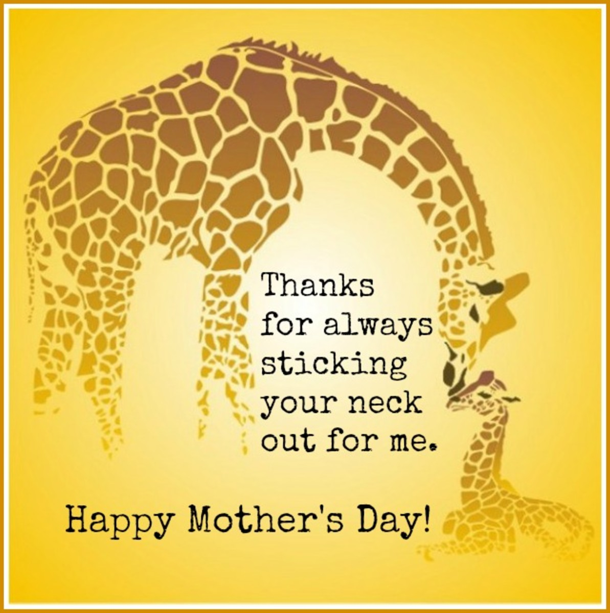 Mother's Day Message with Giraffes