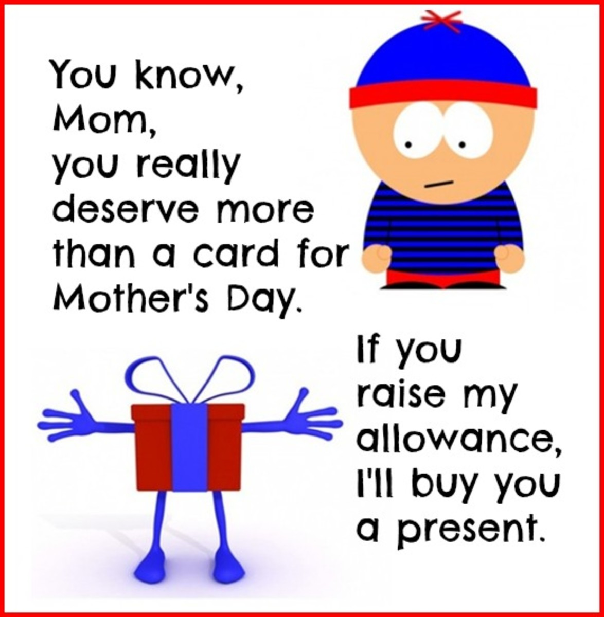 Funny Mother's Day Card from Child