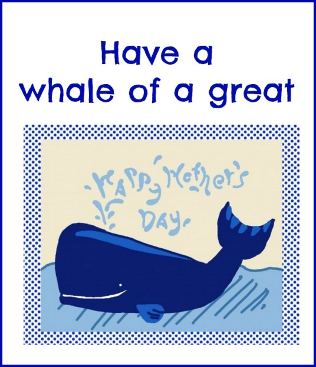 Mother's Day Card with Picture of Whale