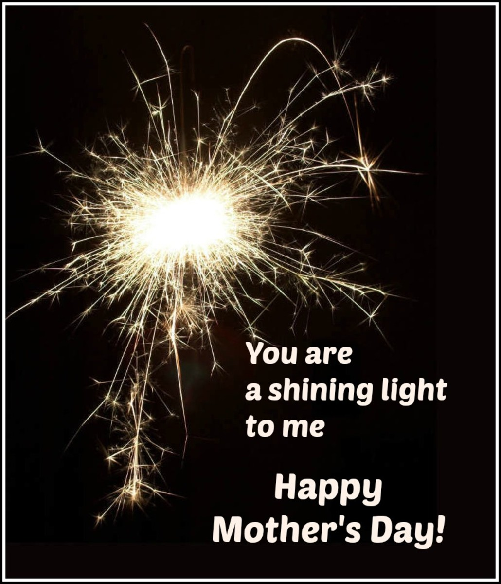 Mother's Day Card with Fireworks