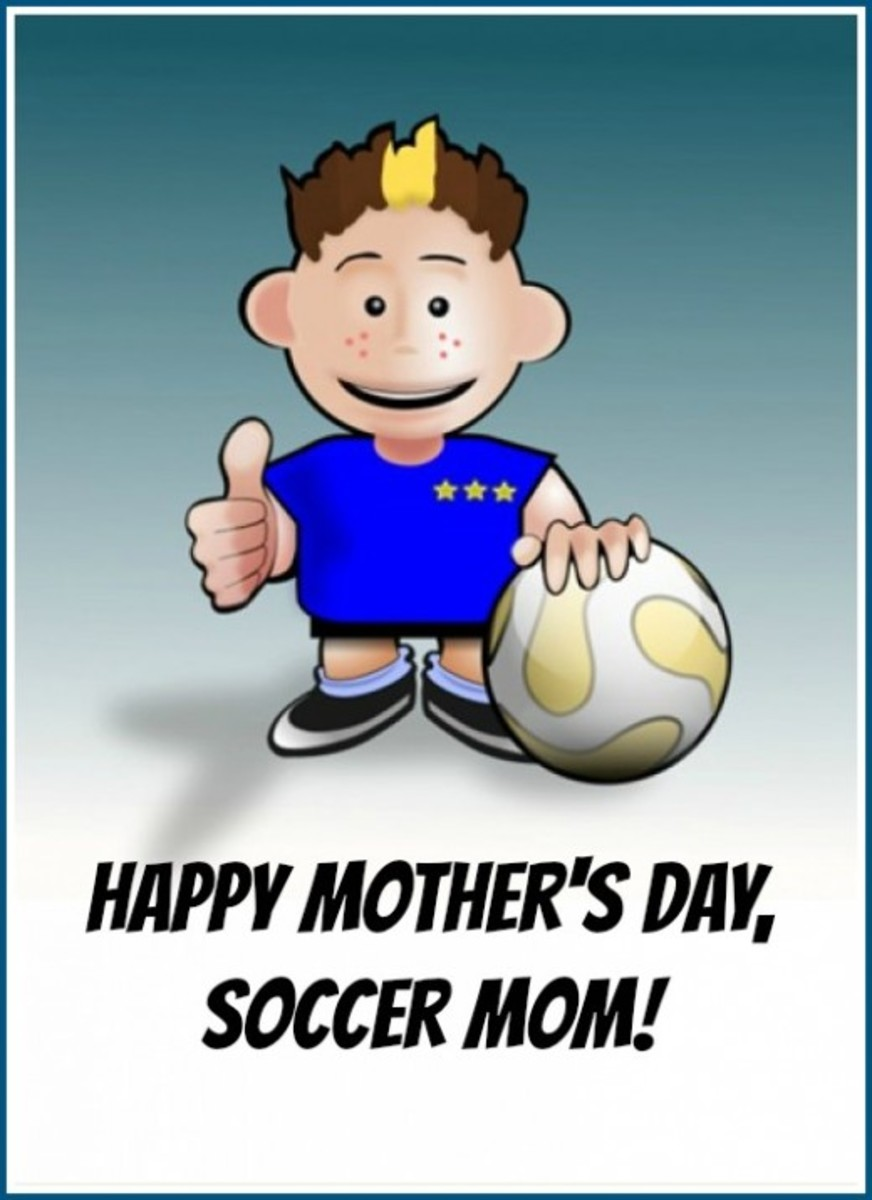 Mother's Day Card for a Soccer Mom