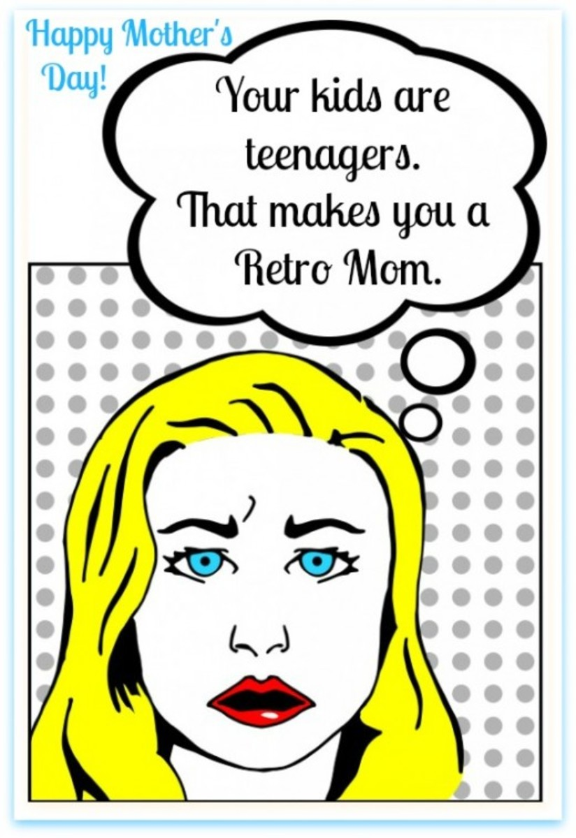Funny Mother's Day Card from Teenagers