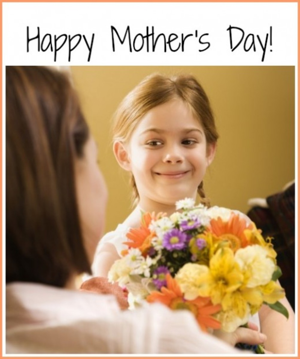 Happy Mother's Day with Flowers for Mom from Daughter