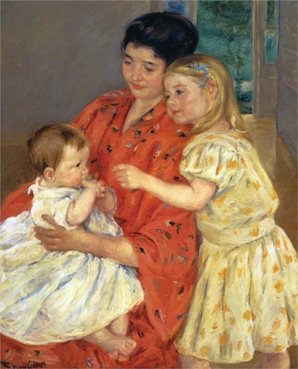 Painting of Mother with Daughter and Infant