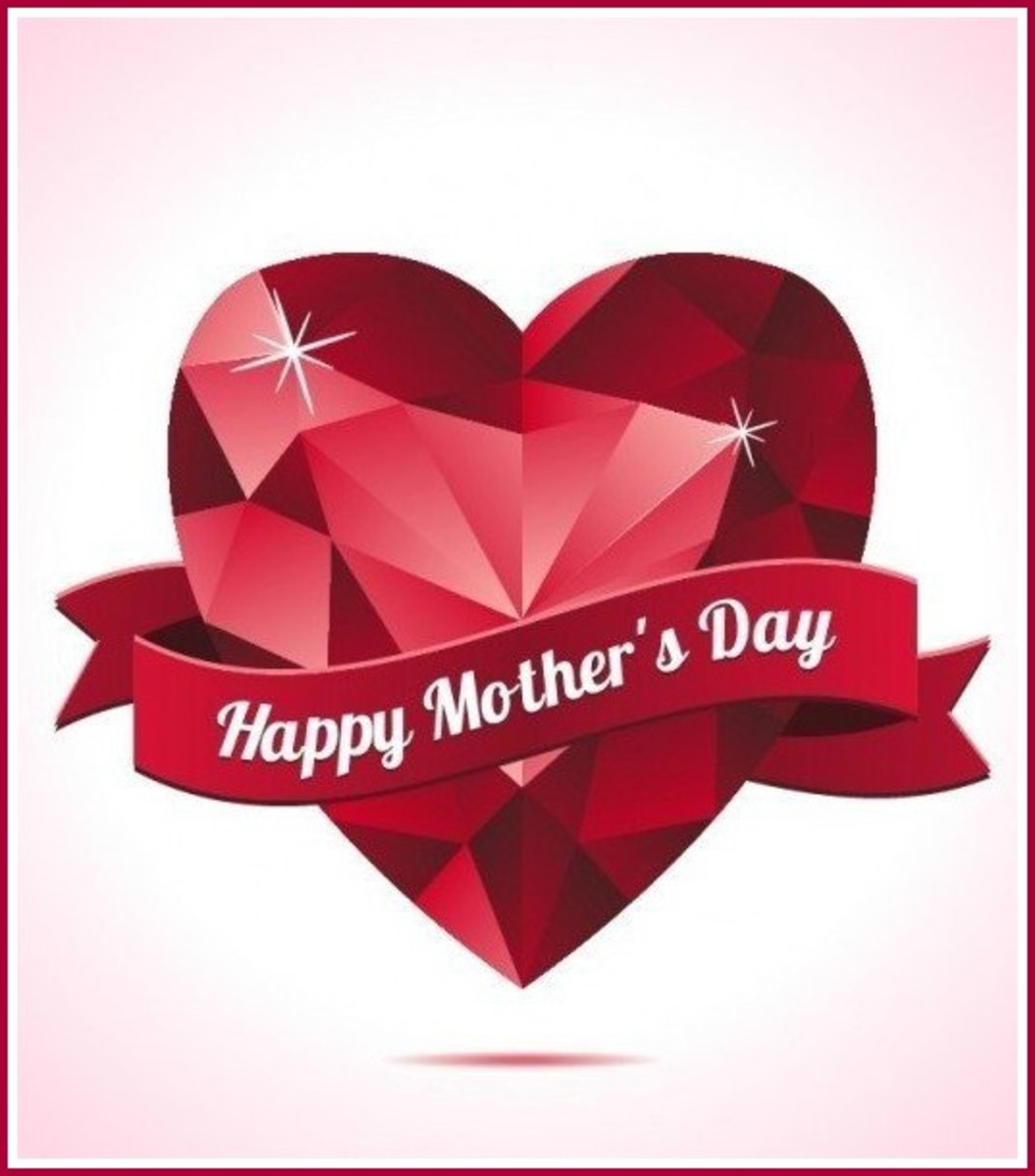 Mother's Day Picture of Red Diamond with Banner